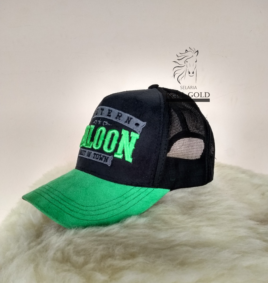 boné country western cowboy verde trucker. Carregando zoom. d9e93a6988b