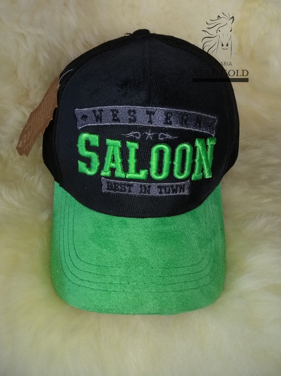 Boné Country Western Saloon Verde De Telinha - R  31 2aeb8514612