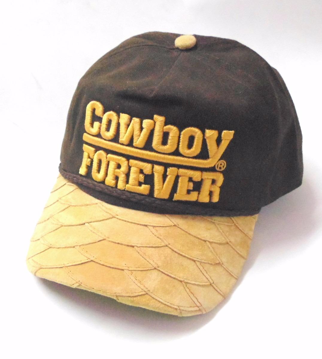 b84666c9ed5af boné cowboy forever aba de couro. Carregando zoom.