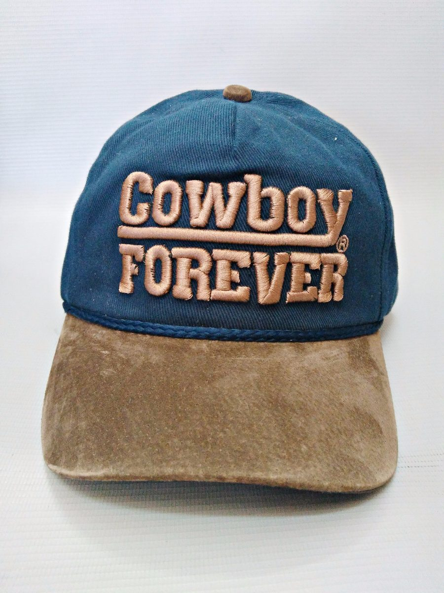 f232f6d5ee34a boné cowboy forever azul marinho aba de couro bordado origin. Carregando  zoom.