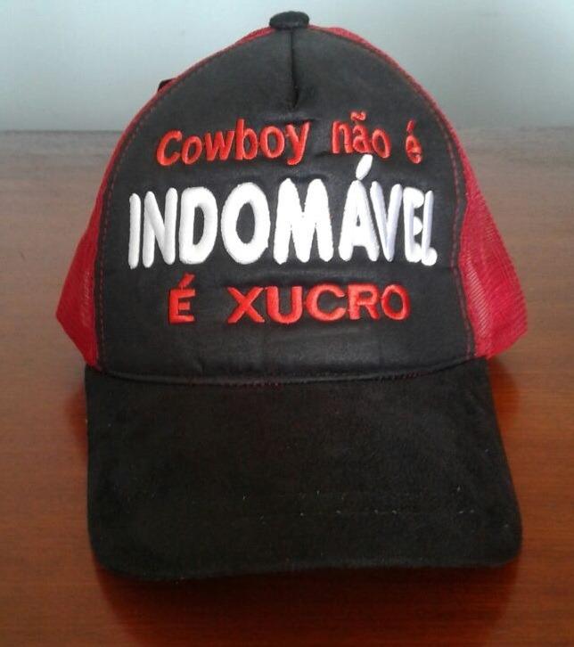 Bone Cowboy Forever Peão De Rodeio Bruto Bordado Masculino - R ... 0bc504e10ad