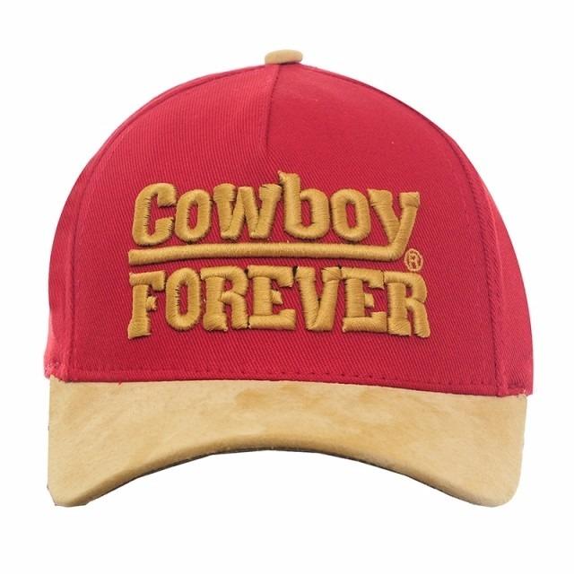 e2b762ce626a0 Boné Cowboy Forever Vermelho Aba De Couro Legitimo Bordado - R  45 ...