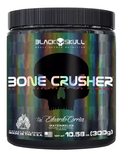 bone crusher 300g - black skull - pré treino