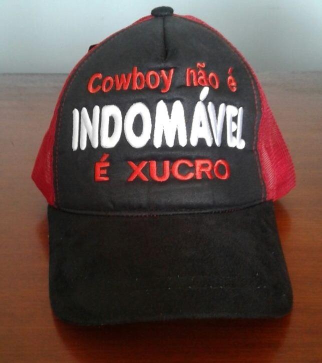 ea74b6c311aa9 Boné De Telinha Country Cowboy Não É Indomável É Xucro - R  22