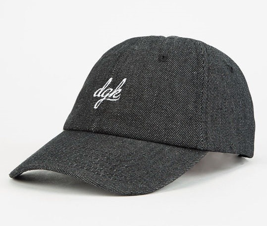 Boné Dgk Script Denim Dad Hat Black Strapback Skate - R  99 2a6f65c6afe
