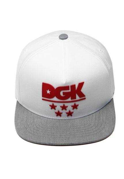 fac83c7681a41 Boné Dgk Squad Snapback Branco Original - R  119