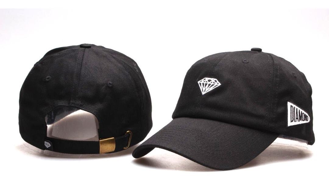 979ac2fc5e boné diamond aba curva dad hat preto - pronta entrega. Carregando zoom.