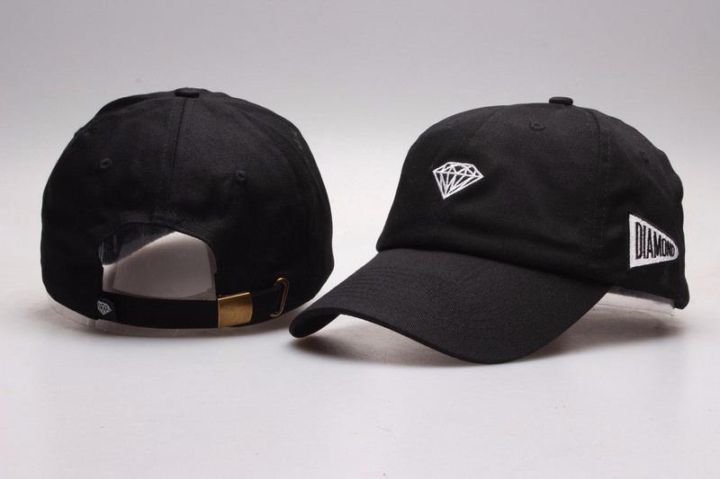 68b01eb8b2465 boné diamond aba curva dad hat preto - pronta entrega. Carregando zoom.