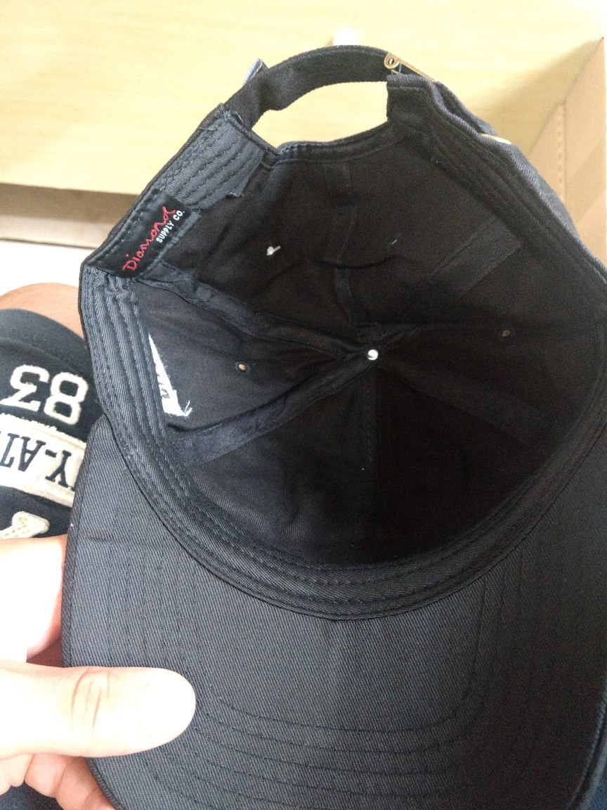 49ccfa2bec Bone Diamond Aba Curva Preto - R$ 69,90 em Mercado Livre