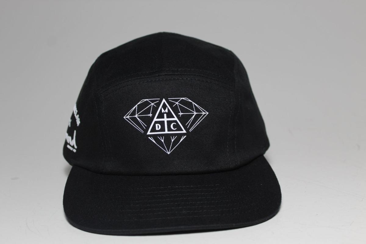 944d0c30f3 Boné Diamond Aba Curva Strap Back Preto - R$ 179,90 em Mercado Livre