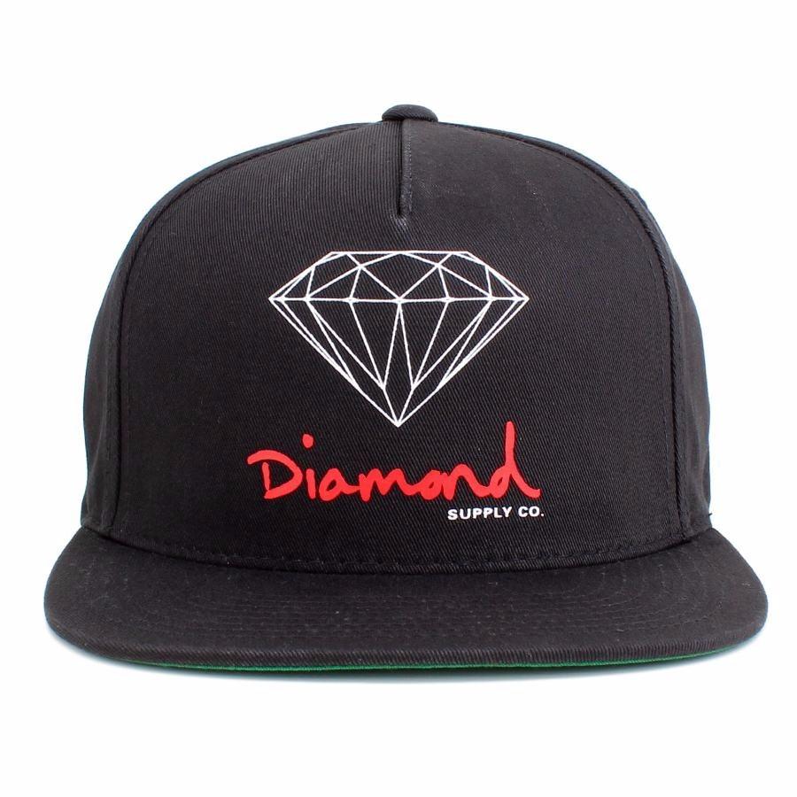 59595cdd20e62 Boné Diamond Supply Co Snapback Og D Preto - R  179