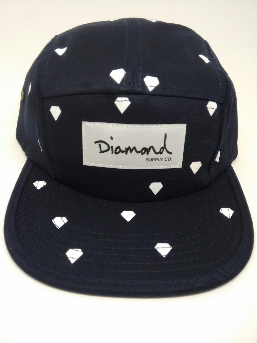 e214d0aa9a105 boné diamond supply five 5 panel azul c  diamantes -. Carregando zoom.