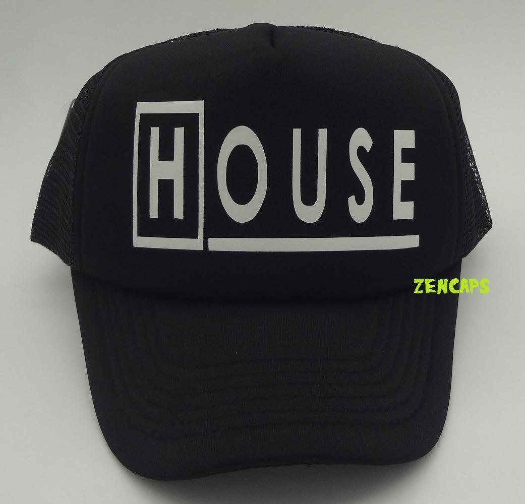 boné dr house seriado trucker cap aba curva preto. Carregando zoom. 36e9d1089c9