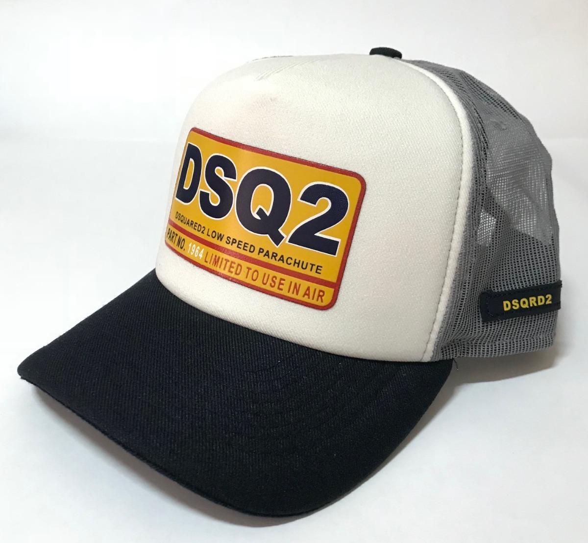 48f76fb5ffdc9 boné dsquared2 icon preto aba curva barato trucker brothers. Carregando zoom .