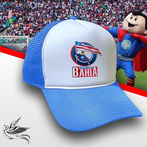 Boné Esporte Clube Bahia Azul Branco Trucker Frete Grátis - R  65 ff7091a332f