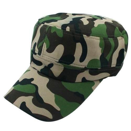 Boné Estilo Quepe Do Exército - Camuflado Verde De Algodão! - R  20 ... 577b88d22d2