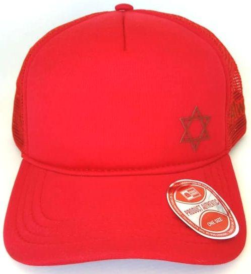 Boné Estrela De Davi- Vermelho Aba Curva - R  39 39b70a5c4d8