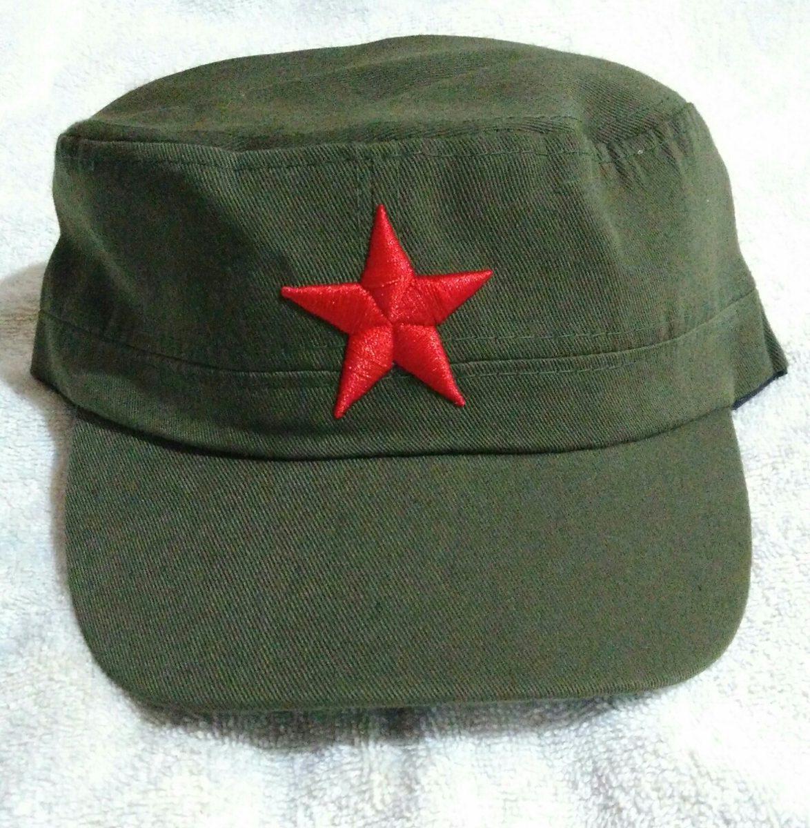 boné estrela vermelha revolucionário verde militar airsoft. Carregando zoom. 8cde703b271