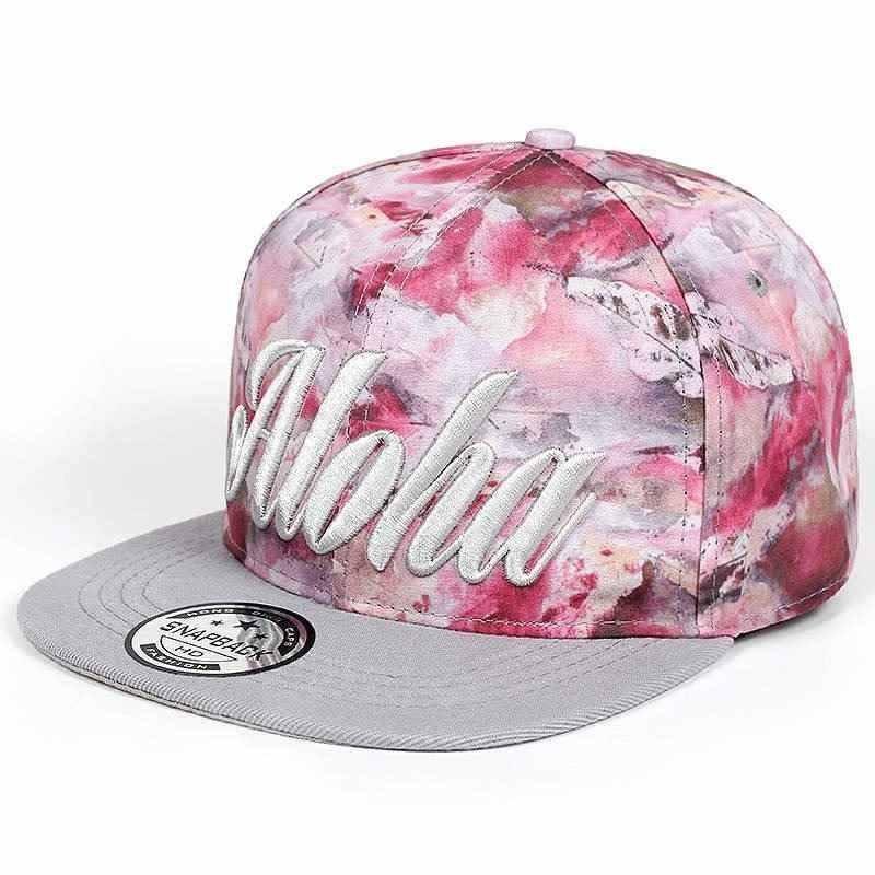 780f8b2850 boné feminino aloha aba reta rosa estampado ajustável. Carregando zoom.