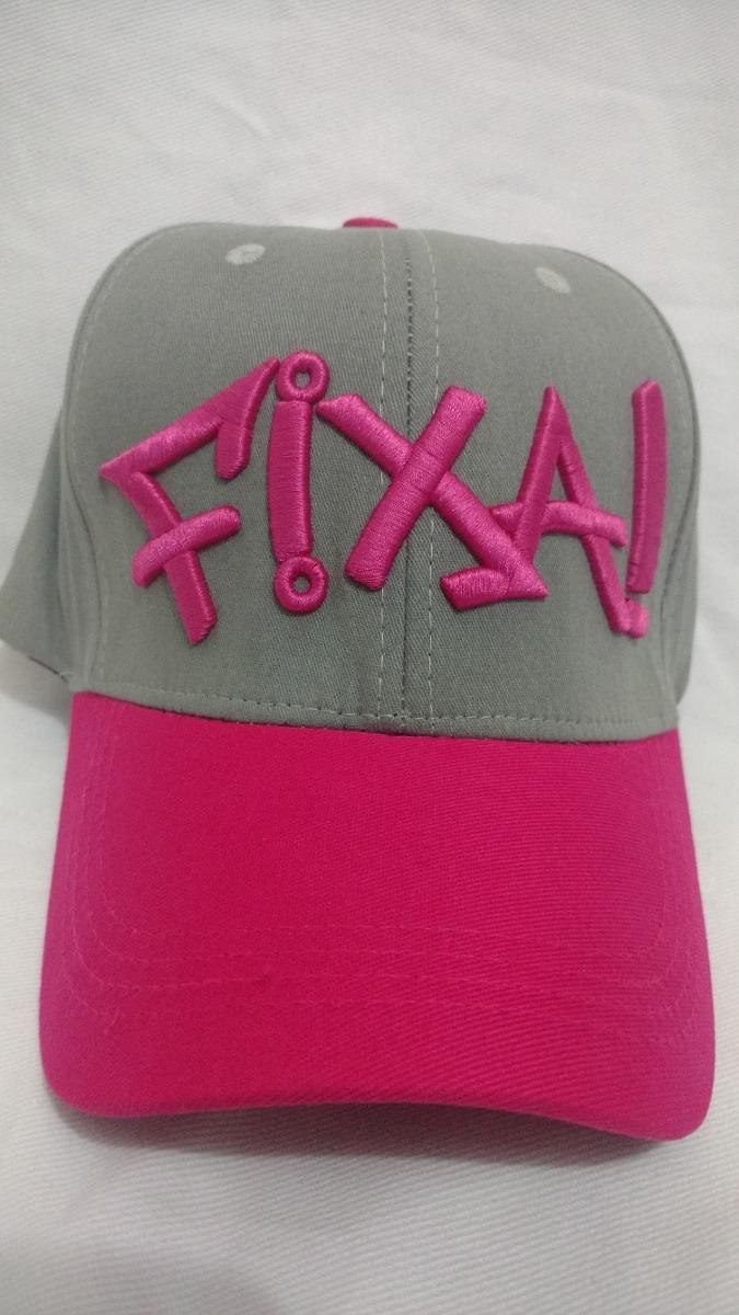 0c284cda23457 Boné Fixa Aba Curva Fechado Com Aba Cor Pink Tecido Elastano - R  29 ...