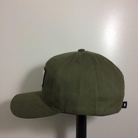 Boné Grizzly Cursive Patch Aba Curva Snapback Verde Militar - R  205 ... c1675099cb4