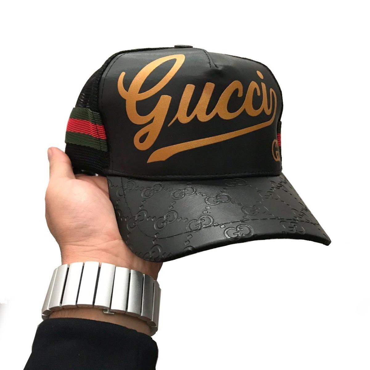 85c86cab03579 boné gucci brand pro gold italian premium preto aba curva. Carregando zoom.
