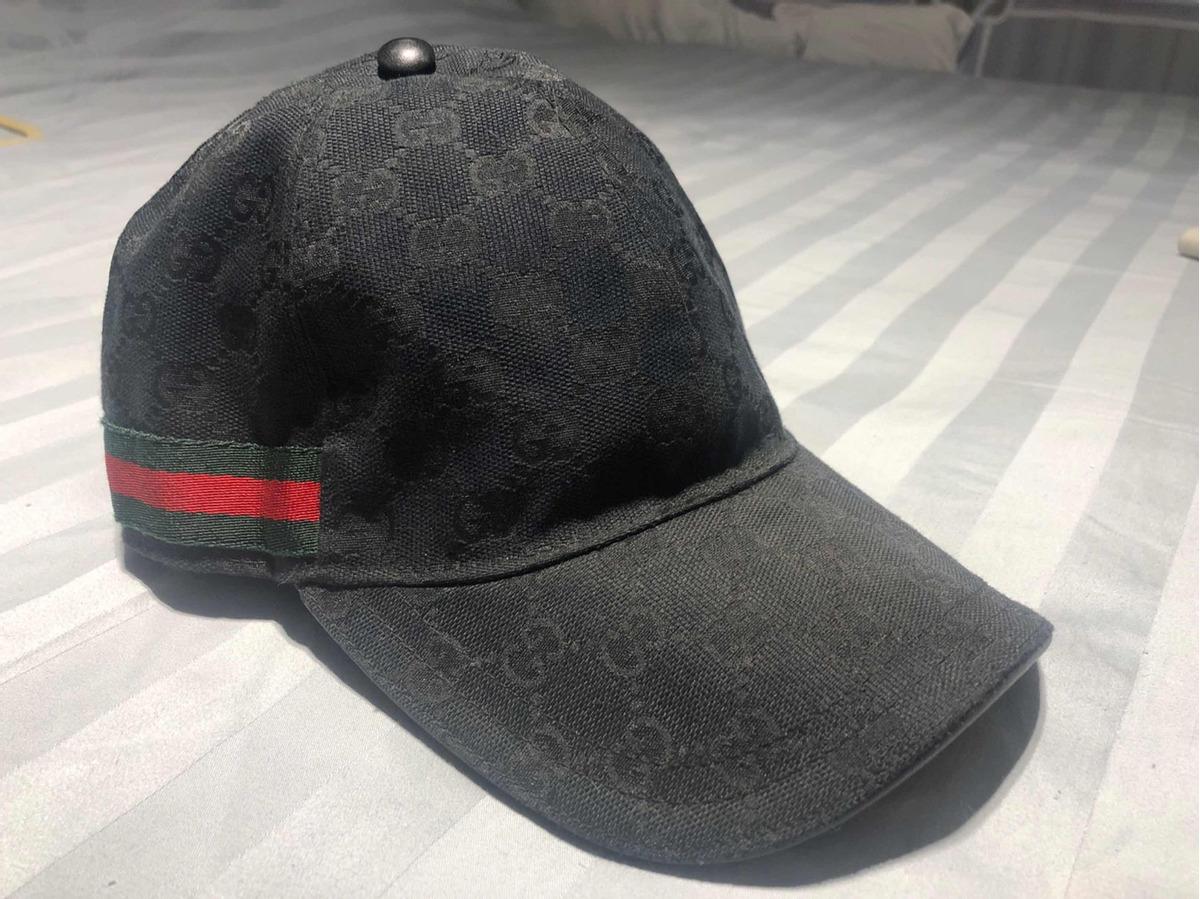 01e7a31f5c425 Boné Gucci Original - Preto - Tamanho L - R  299,00 em Mercado Livre