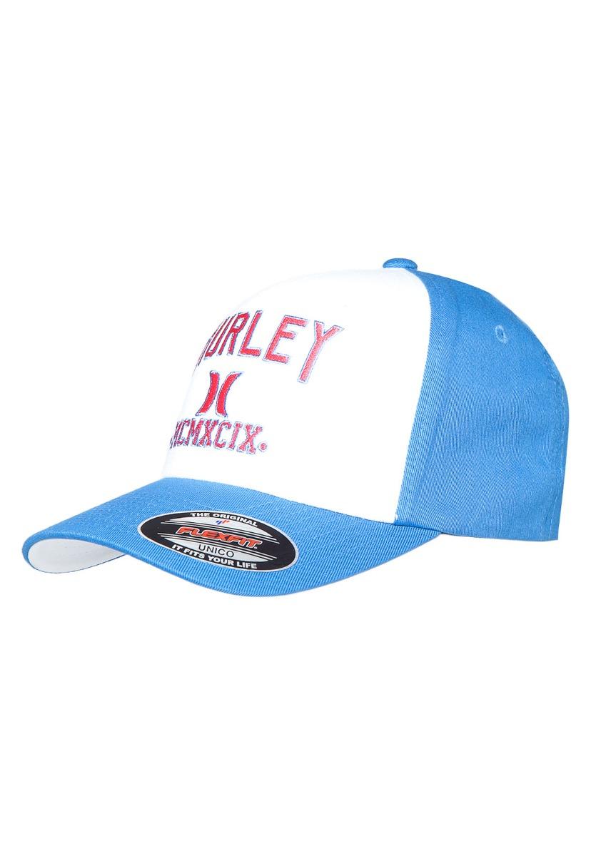 boné hurley logo azul e branco - masculino - único. Carregando zoom. 902e620f905