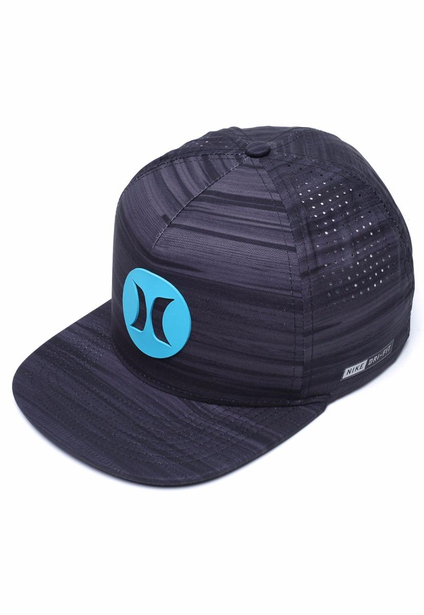 246e559811f07 Boné Hurley Nike Dri-fit Snapback Slider Preto cinza - R  139