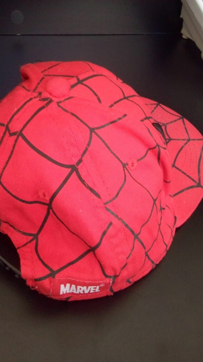 2bb8293097a2a boné infantil aba reta homem aranha original importado. Carregando zoom.