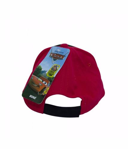 Boné Infantil Vermelho Com Preto Carros - Dyfcap-cr1-d    - R  38 624597e1325
