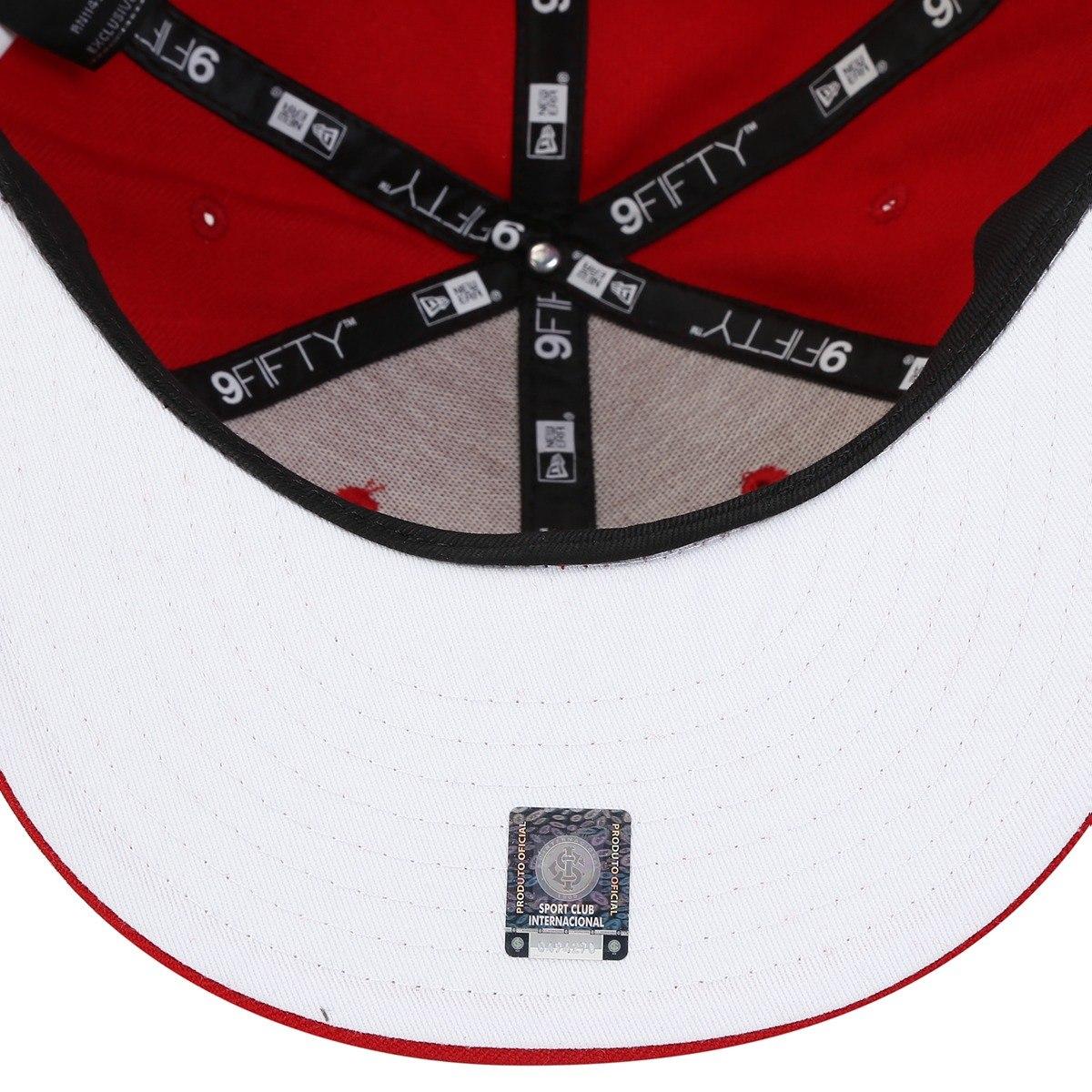 3876074456 bone internacional new era aba reta 950 vermelho original. Carregando zoom.