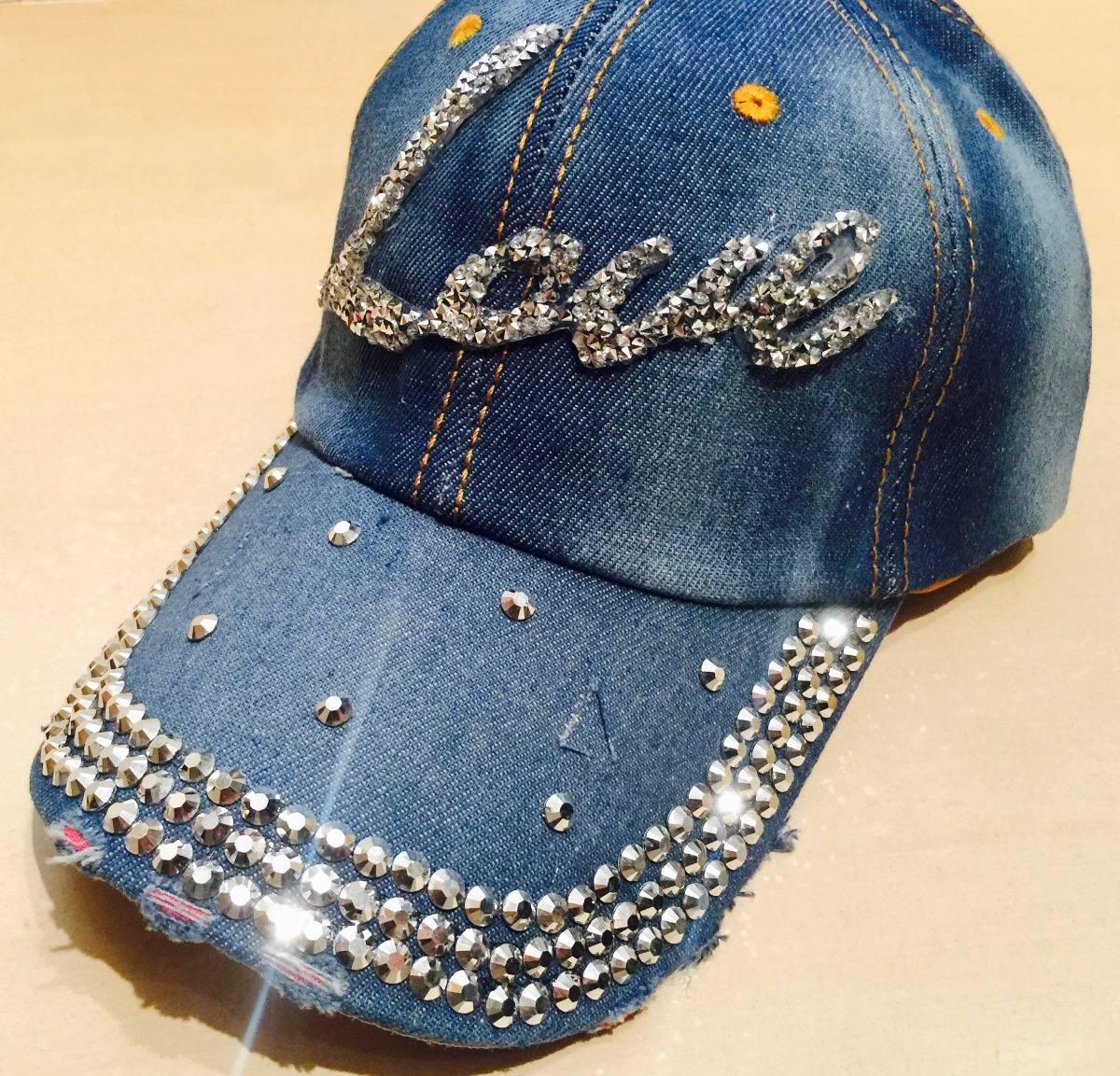 Boné Jeans Strass Brilho Love Peq Snapback 12x S juros - R  59 8d26223eb2d