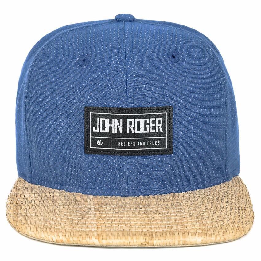 boné john roger snapback azul 100% poliéster. Carregando zoom. 034fd0088f1