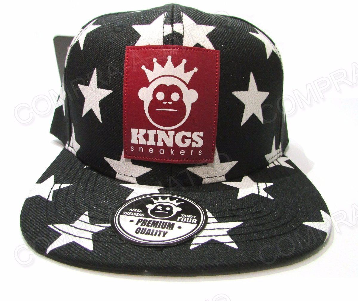 960c3b0845284 Boné Kings Estrelado Aba Reta Estrelas Snapback + Cores! - R  29