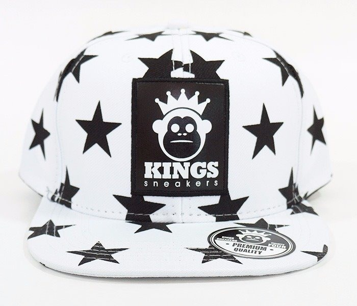 2d11d0dbd7a9b Bone Kings Sneakers Estrela Preto E Branco Snapback Aba Reta - R  65 ...