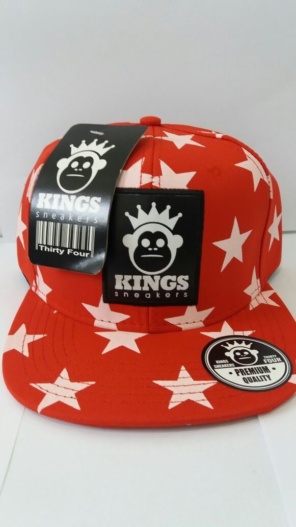 719123b74be25 boné kings sneakers vermelho estrelado. Carregando zoom.