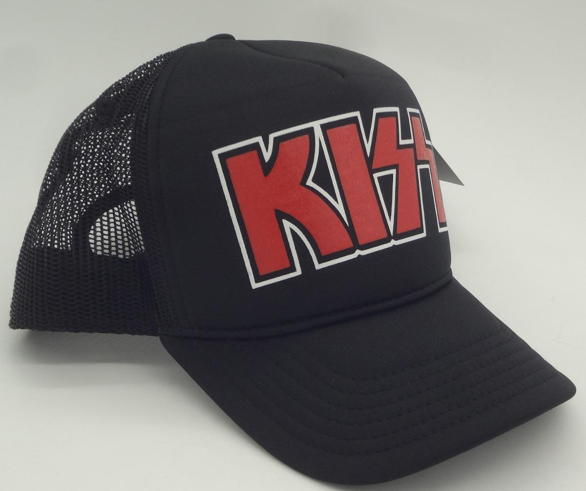 boné kiss heavy metal trucker cap rock aba curva. Carregando zoom. eb79cb6e2ca