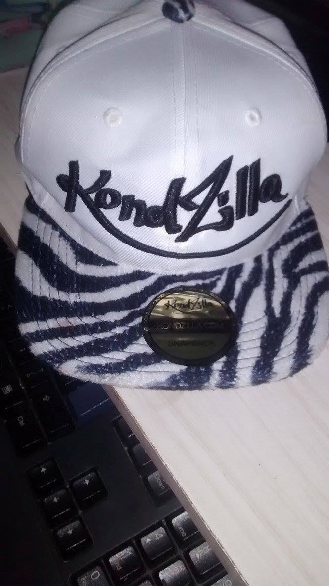 boné kondzilla branco zebra listrado. Carregando zoom. cb112954279