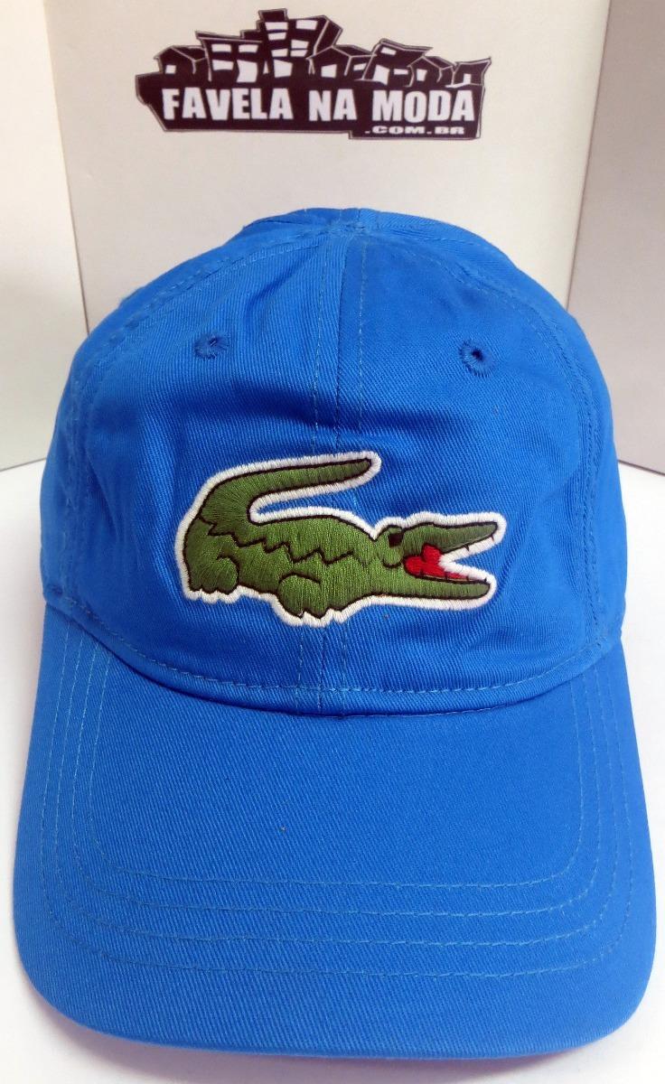 da9fbf627c5 Boné Lacoste Big Croc (azul) - Fivela De Couro + Brinde - R  139