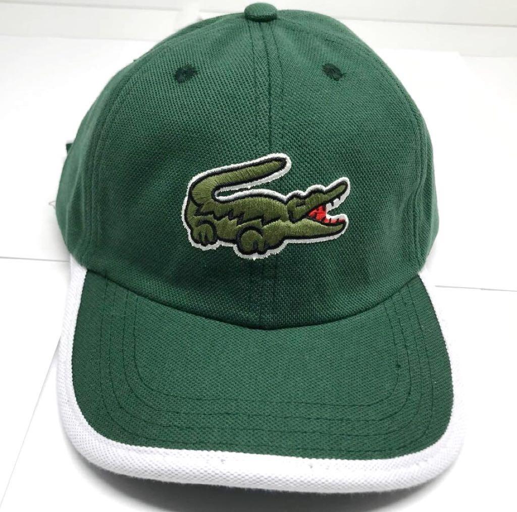 e1d76c9e97622 boné lacoste big croc verde aba curva fita fivela fitão. Carregando zoom.