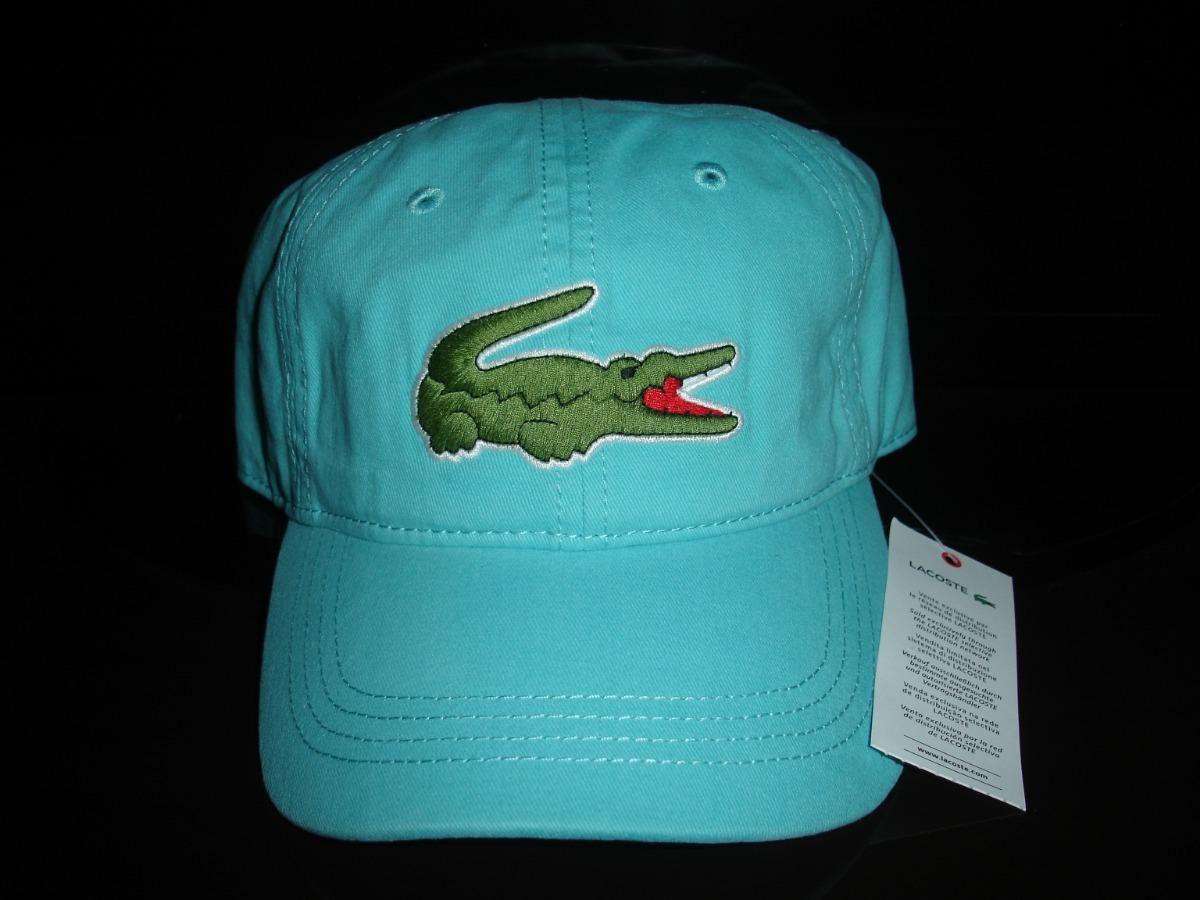 485a212137b6d boné lacoste gabardini crocodilo big 8 cm atoll. Carregando zoom.