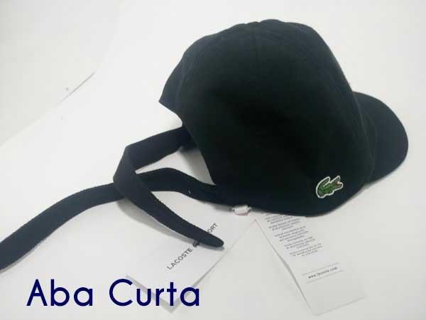 Boné Lacoste Lacinho Masculino Aba Curta Preto Sport Peru - R  60,00 em  Mercado Livre 0c95d9a113