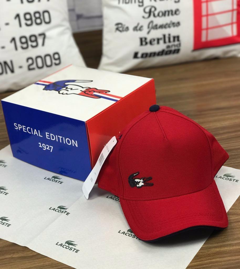 boné lacoste original importado   velcro   vermelho + video. Carregando  zoom. 42da913fc8