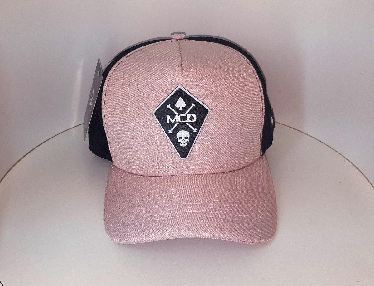boné mcd trucker telinha tela preto rosa baralho caveira usa. Carregando  zoom. d62dcbab7e4