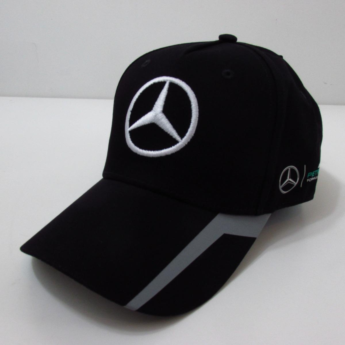 Boné Mercedes Benz F1 Hamilton Oficial Produto Europeu - R  199 1a4abd2dc86