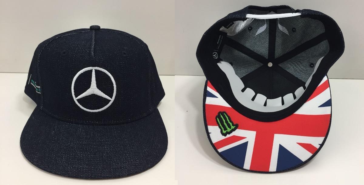 3ba3d202277b6 Boné Mercedes Benz Hamilton Silverstone 100% Oficial - R  399