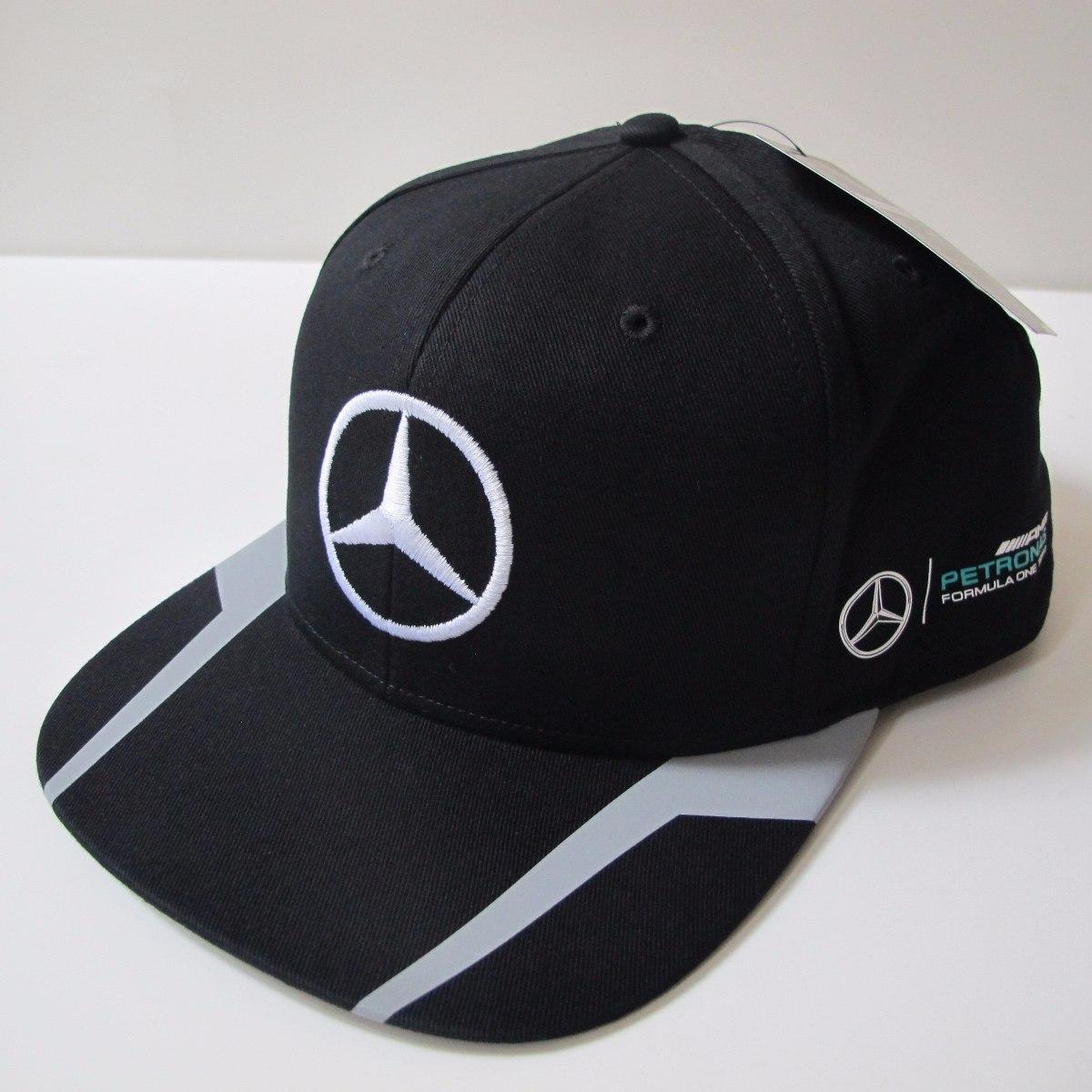 Boné Mercedes Hamilton Aba Reta Fórmula 1 100% Original - R  299 df4fa5281e4