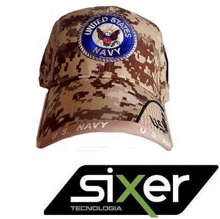 Bone Militar Americano Us Navy Exercito Usa Ny Masculino - R  15 2c2e7f76b51