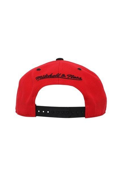 Boné Mitchell E Ness Snapback Chicago Bulls Vermelho E Preto - R ... 85350d2779af2